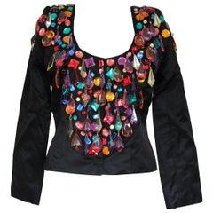 Victor Costa Multicolored Crystals Jacket M