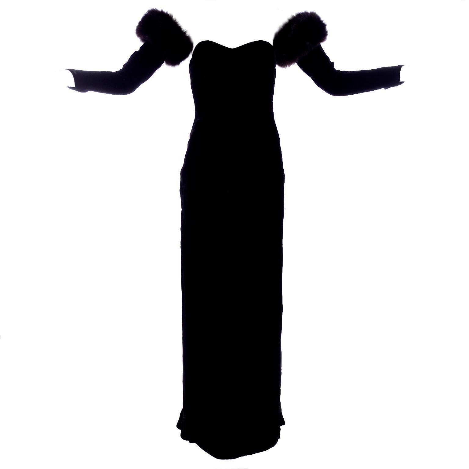 Vintage Black Evening Dress