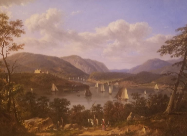 Victor de Grailly Landscape Painting - West Point on the Hudson River