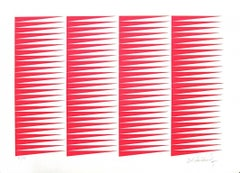 Fuchsine Composition - Original Screen Print by Victor Debach