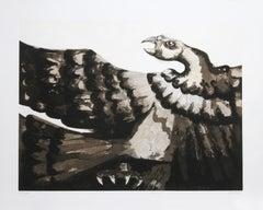 Condor II, Etching by Victor Delfin