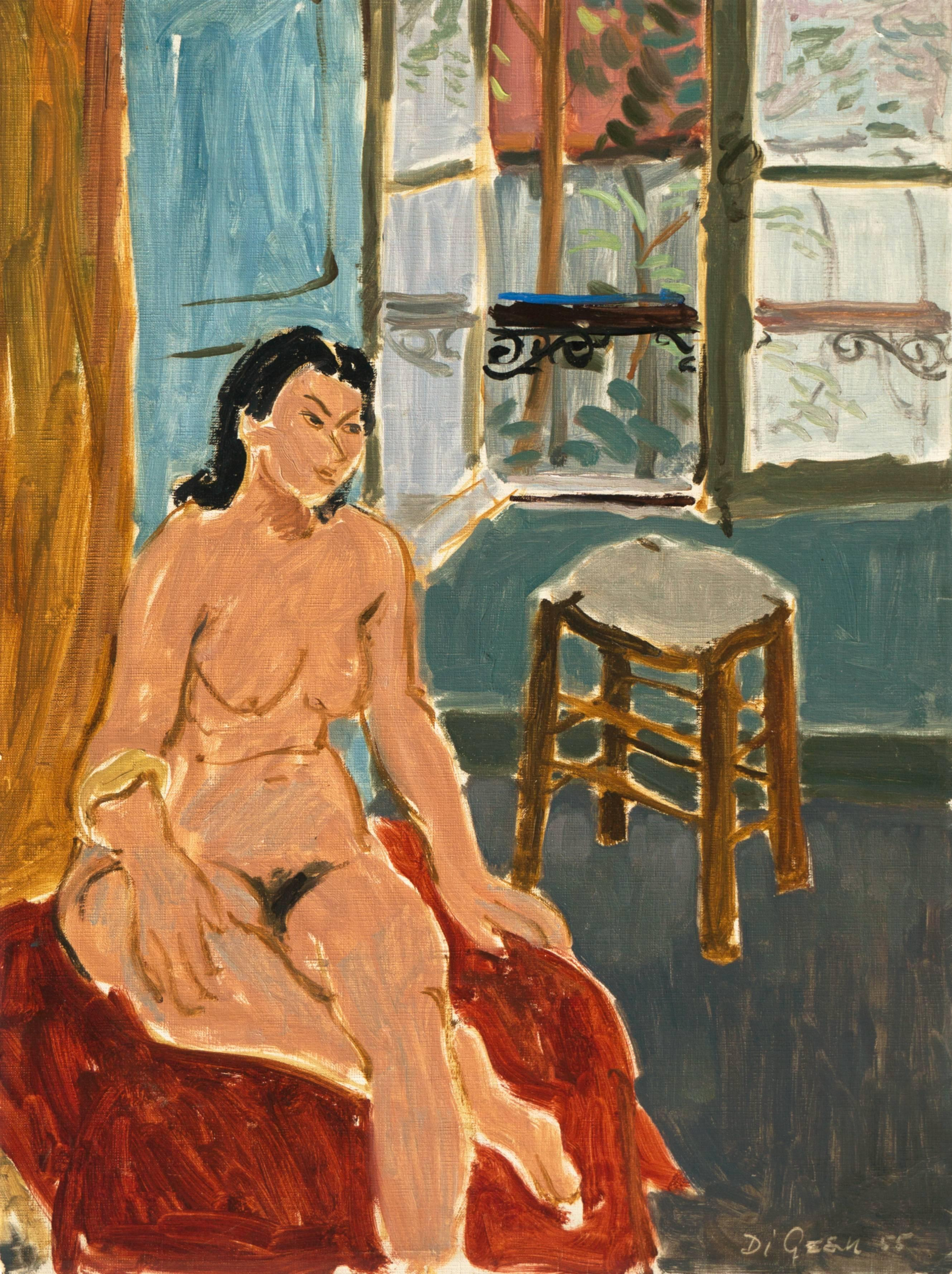 California Post-Impressionist 'Seated Nude', Louvre, Académie Chaumière, LACMA
