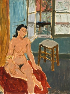 Nude in Interior   (Matisse, California, Post-Impressionism, Modernism, Carmel)
