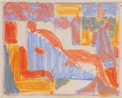 'Reclining Nude', California, Paris, Louvre, Academie Chaumiere, SFAA, LACMA