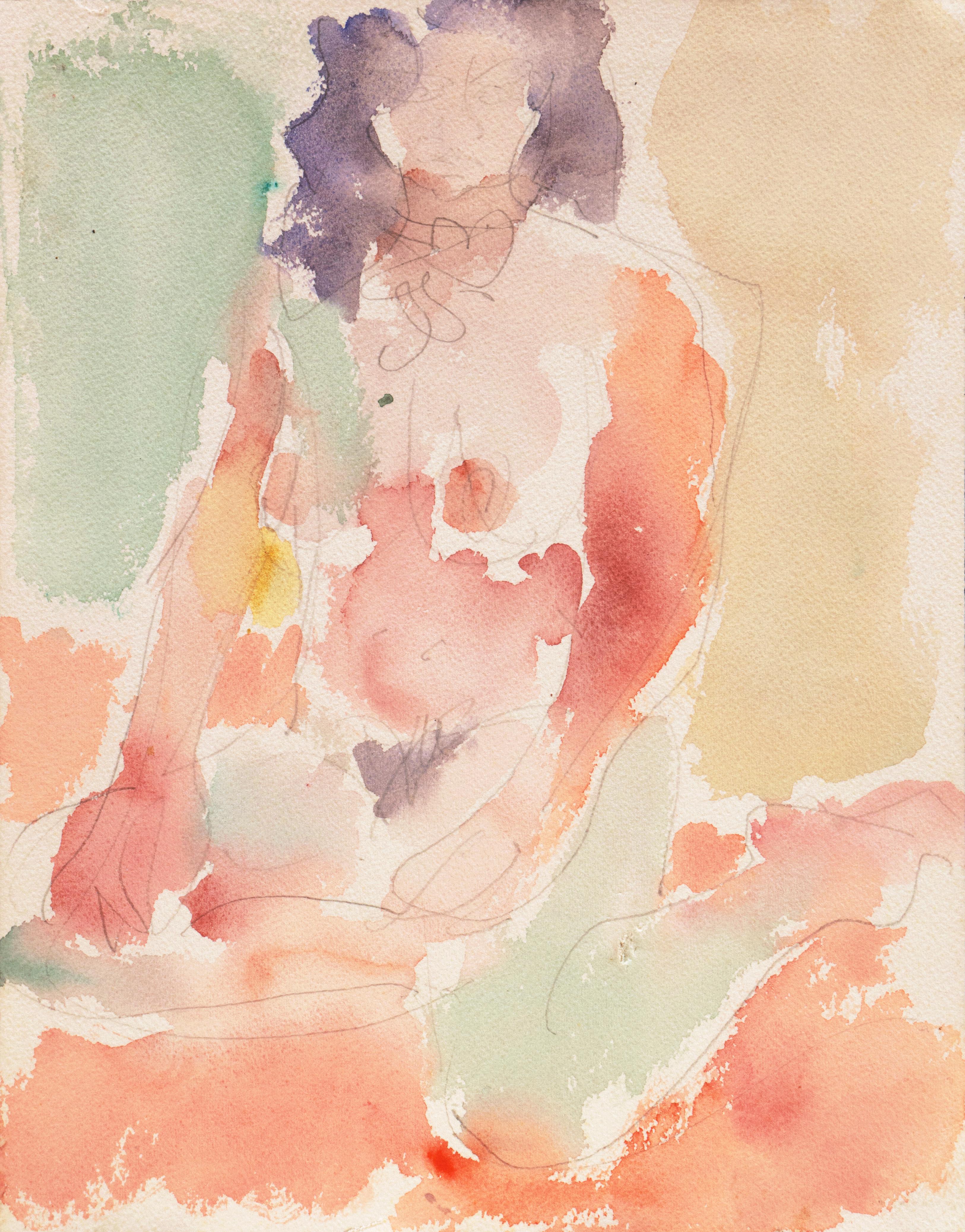 'Seated Nude' Carmel, California, Paris, Louvre, Academie Chaumiere, SFAA, LACMA