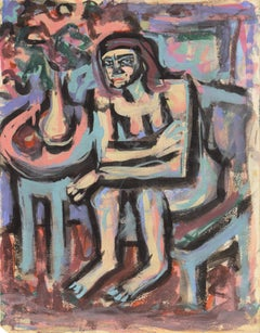 'Seated Nude', Carmel, Paris, Louvre, Academie Chaumiere, SFAA, LACMA