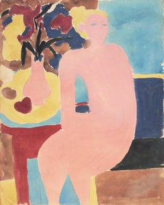 Seated Nude   (California, Post-Impressionism, Modernism, Figural, Chaumiere)