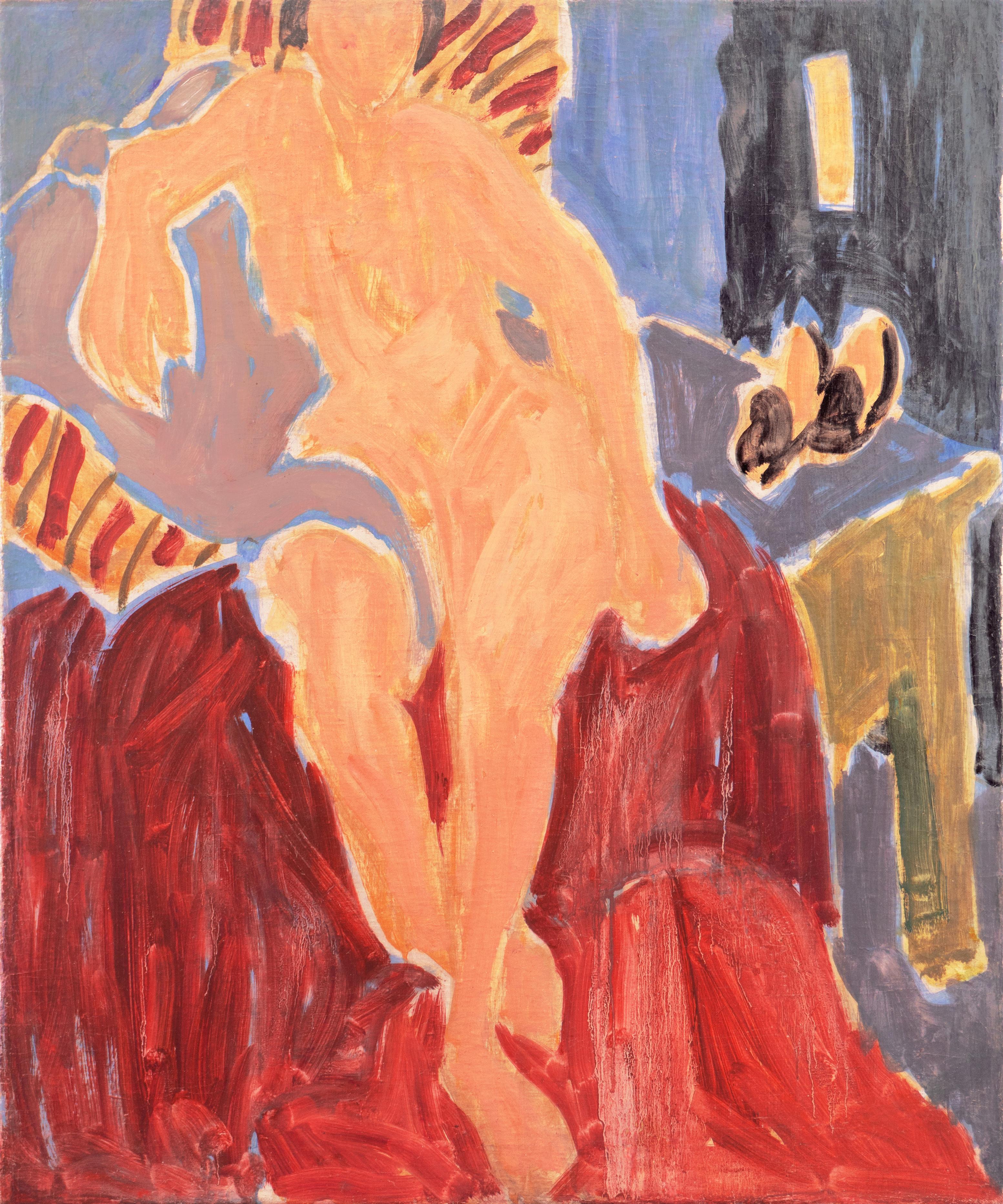 'Seated Nude', Paris, Louvre, Academie Chaumiere, Carmel, California, LACMA, Oil