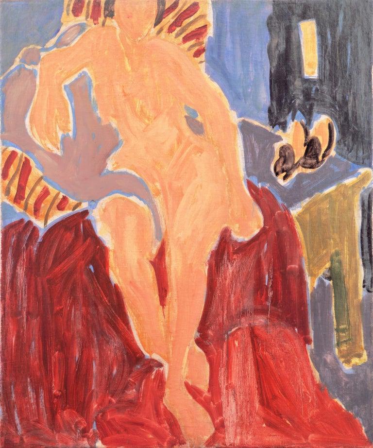 Victor Di Gesu Nude Painting - 'Seated Nude', Paris, Louvre, Academie Chaumiere, Carmel, California, LACMA, Oil