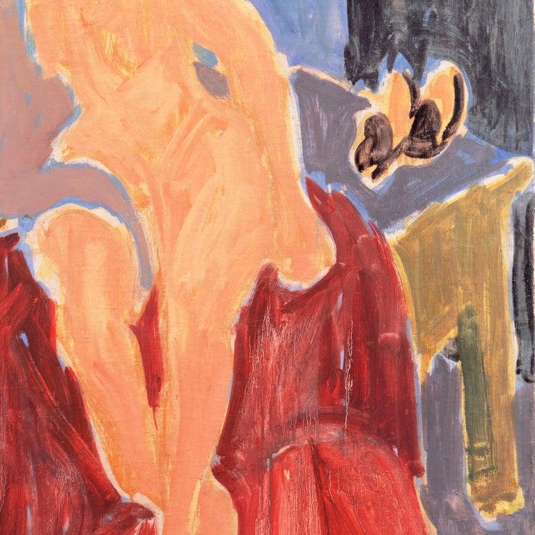 'Seated Nude', Paris, Louvre, Academie Chaumiere, Carmel, California, LACMA, Oil For Sale 1