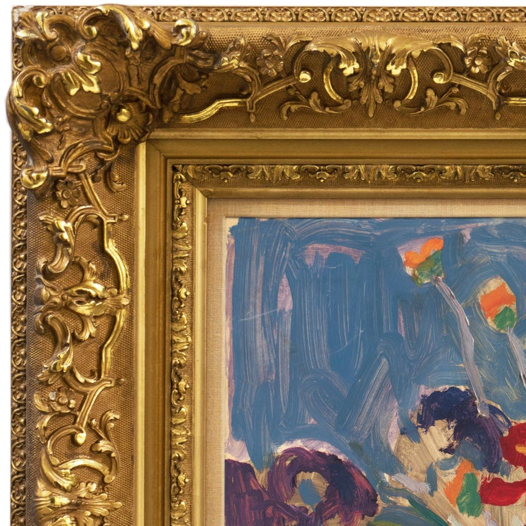 Post-Impressionist oil 'Still Life of Irises and California Poppies' LACMA, SFAA For Sale 3