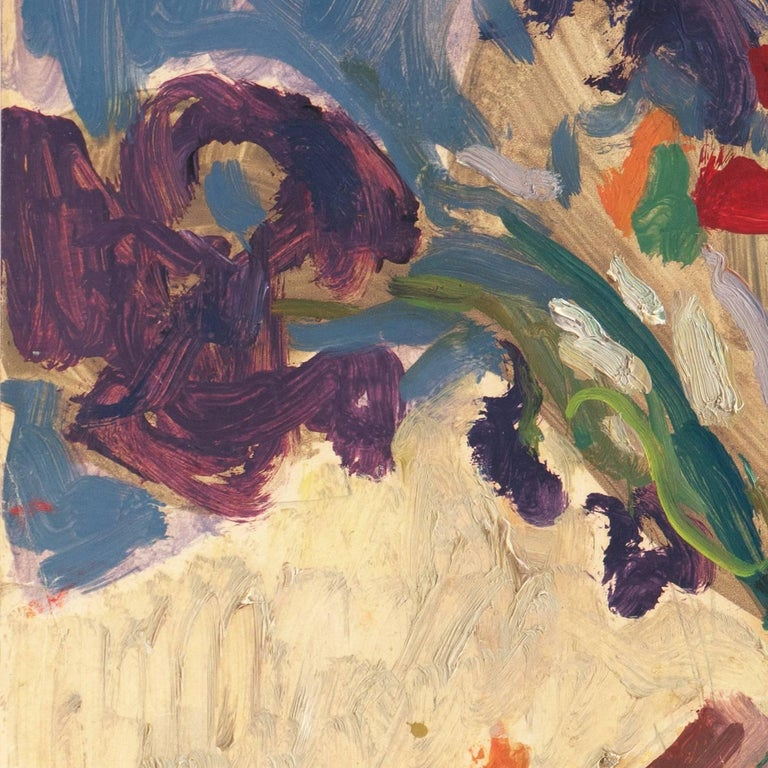 Post-Impressionist oil 'Still Life of Irises and California Poppies' LACMA, SFAA For Sale 6