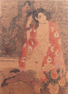 'Woman in Kimono', Louvre, Academie Chaumiere, Paris, California, SFAA, LACMA