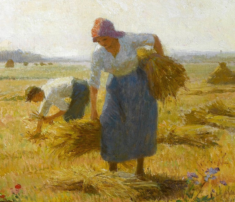 French Pastoral Scene 'The Harvest' by Victor Gabriel Gilbert For Sale 1