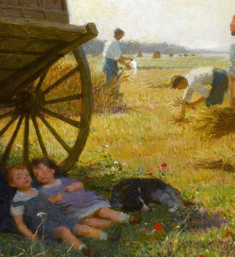 French Pastoral Scene 'The Harvest' by Victor Gabriel Gilbert For Sale 2