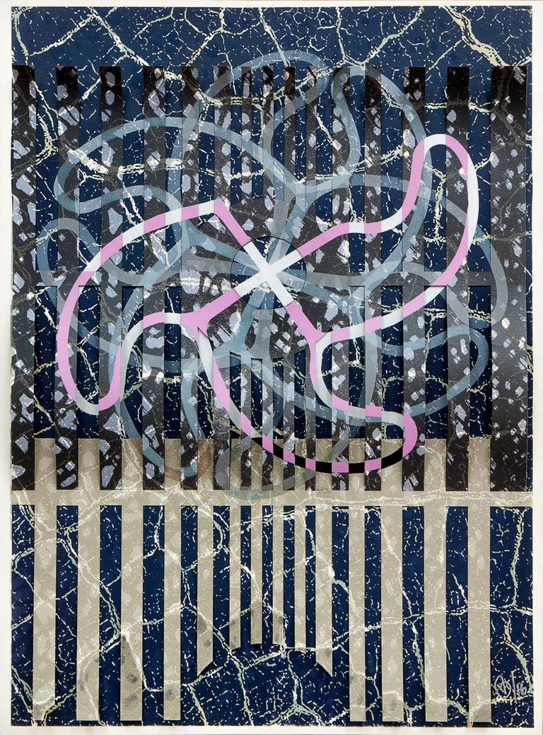 Victor Guadalajara Abstract Print - Variaciones sobre Gajos 2