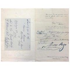 Victor Hugo Signed Document