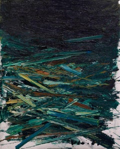 Paint, Oil, Texture, Colorful, Bright, Green, Black, Canvas, Lines, Abstract