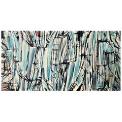 Victor Laks, Abstract Composition, French Mid-Century Modernist Painting, 1961