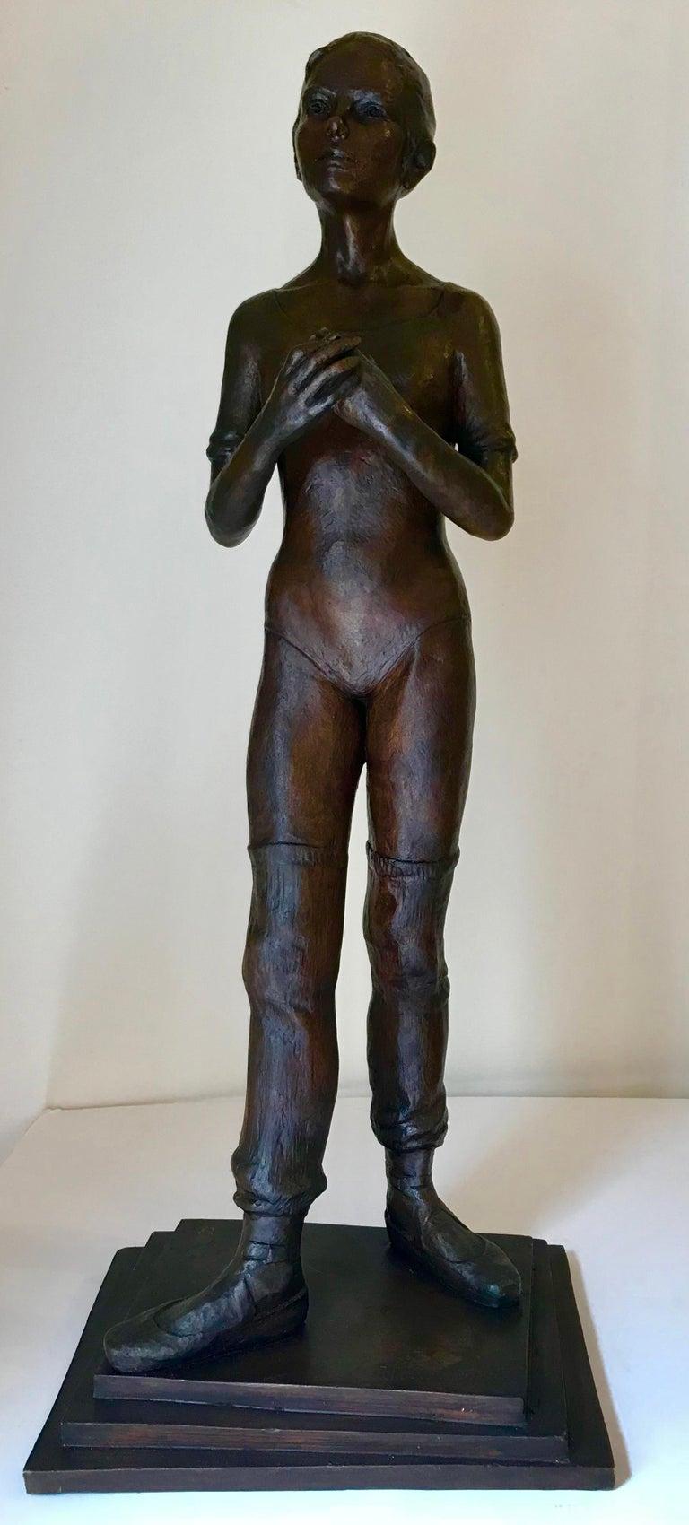 """Victor Manuel Villarreal Figurative Sculpture - """"Warming Up"""""""