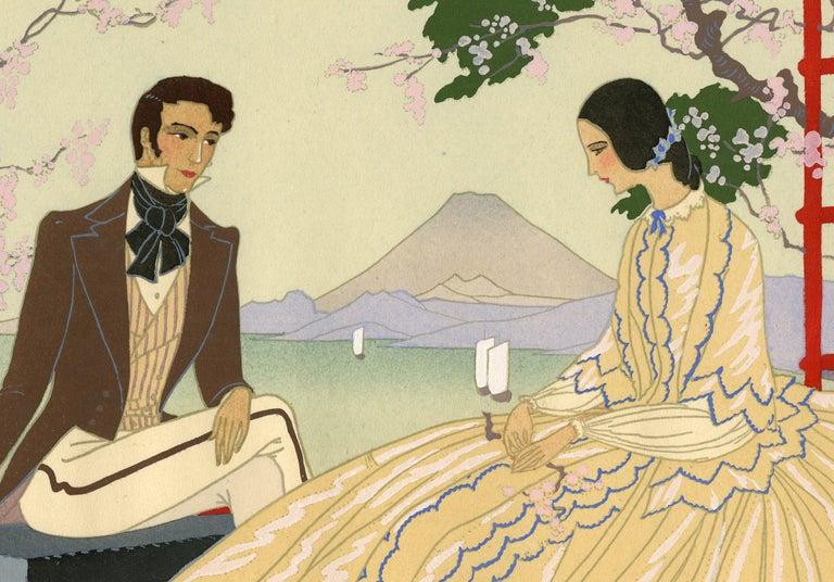 Au Japon - Beige Figurative Print by Victor Max Ninon