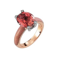 Victor Mayer Cocktail Enamel Ring 18k Rose Gold/White Gold with Diamonds