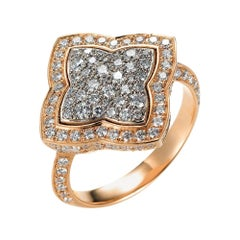 Victor Mayer Eloise Ring 18k Rose Gold/White Gold with 141 Diamonds