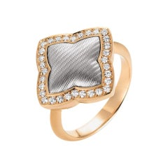 Victor Mayer Eloise Ring in 18 K Rose Gold/White Gold with Diamonds