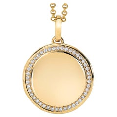 Victor Mayer Round Locket 18k Yellow Gold with 45 Diamonds Polished