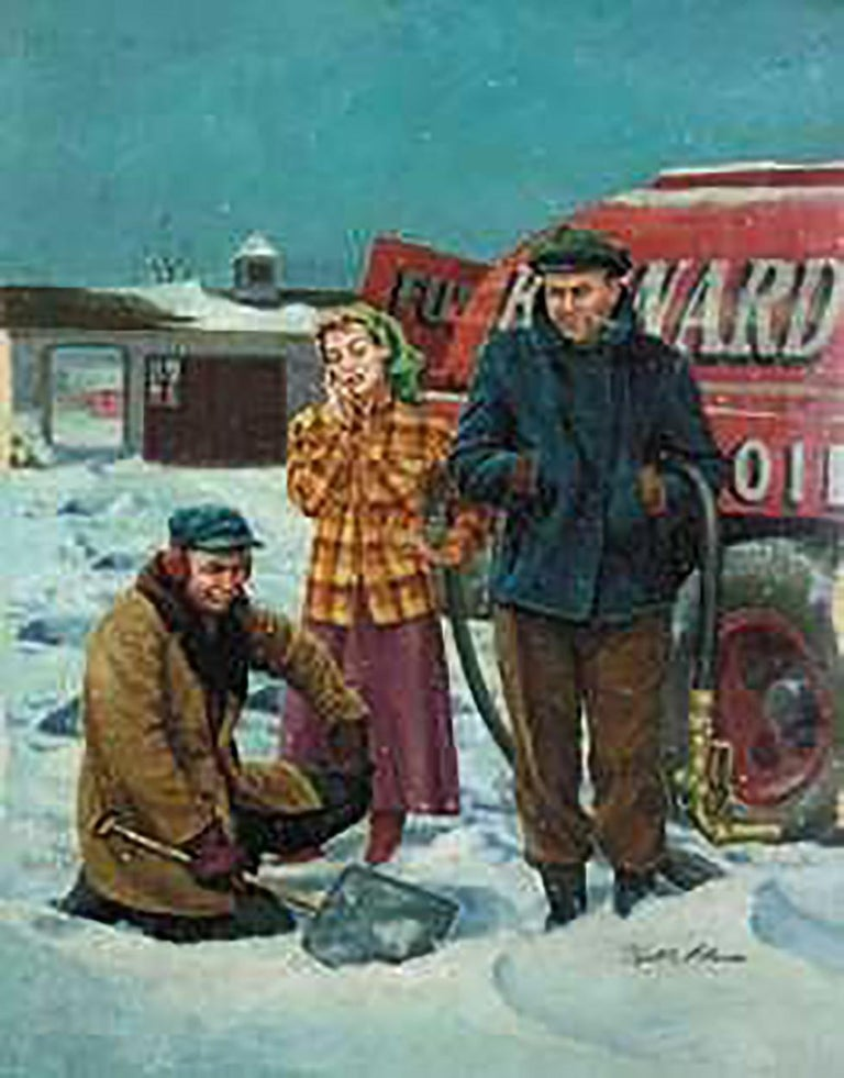 Victor Olson Figurative Painting - Fuel Oil Delivery