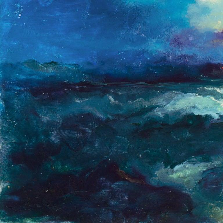 Impressionist seascape, 'Sunset, San Francisco Bay' For Sale 1