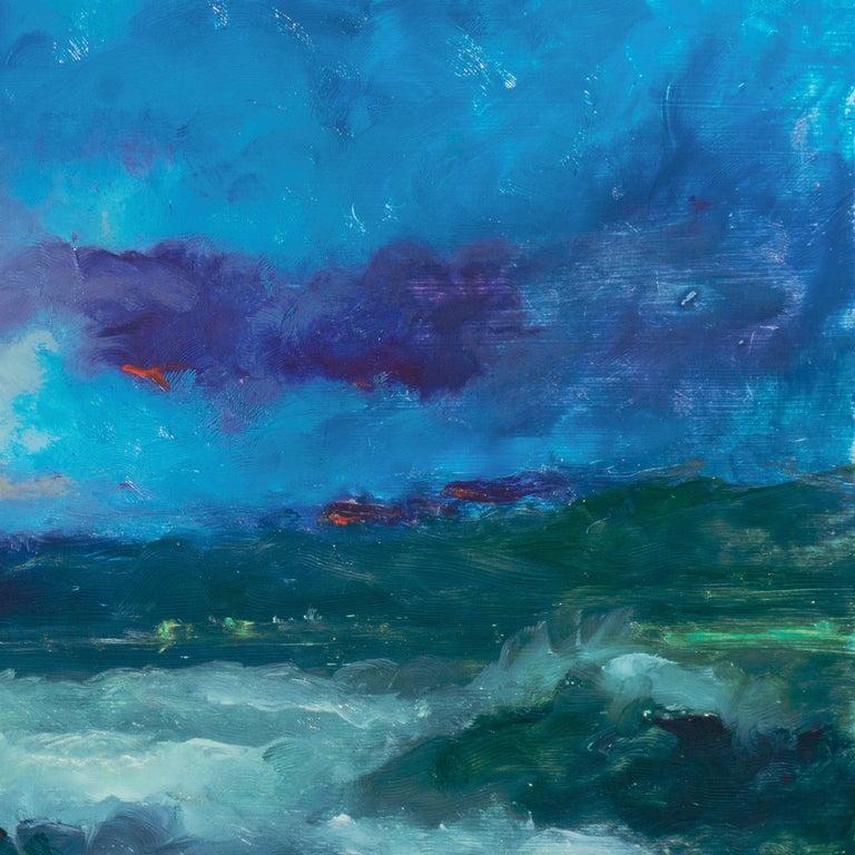 Impressionist seascape, 'Sunset, San Francisco Bay' For Sale 2