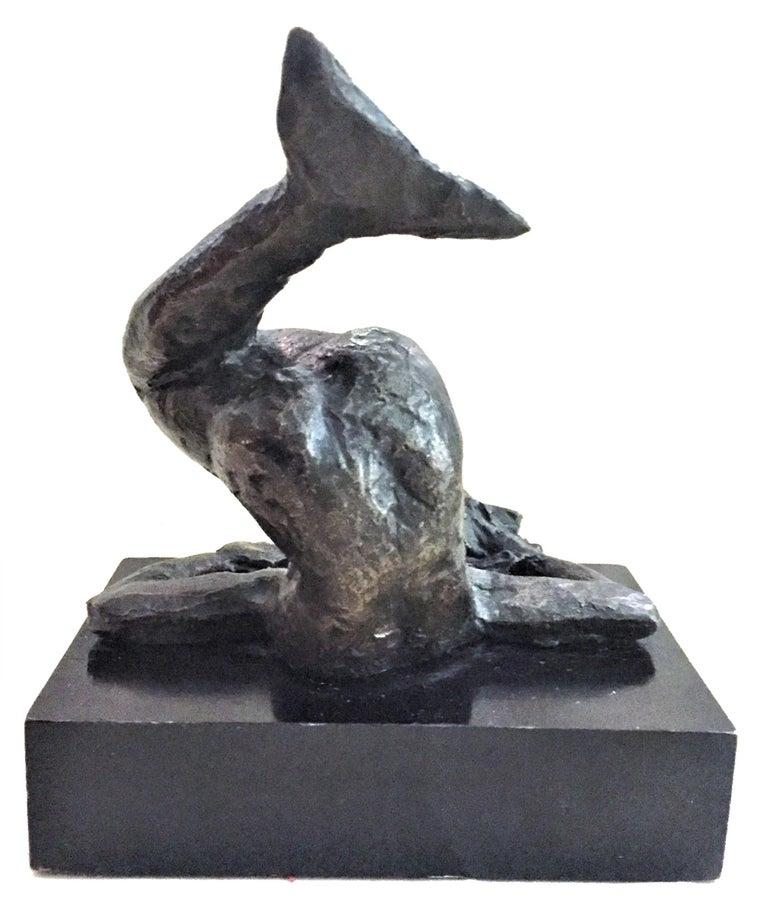 Mid-Century Modern Victor Salmones, Mermaid, Patinated Bronze Sculpture, circa 1960s For Sale