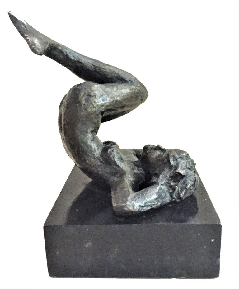 Mid-20th Century Victor Salmones, Mermaid, Patinated Bronze Sculpture, circa 1960s For Sale