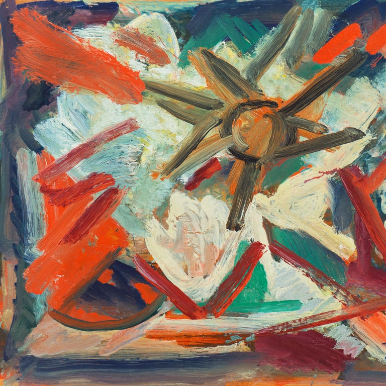 'Abstract, Coral and Ivory', New York School Abstraction, Whitney Museum, WPA - Abstract Expressionist Painting by Victor Thall