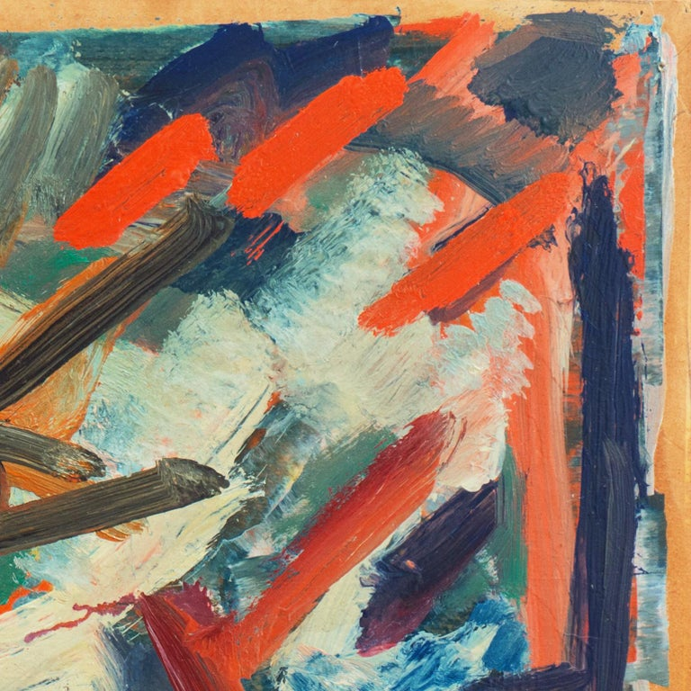 'Abstract, Coral and Ivory', New York School Abstraction, Whitney Museum, WPA For Sale 1