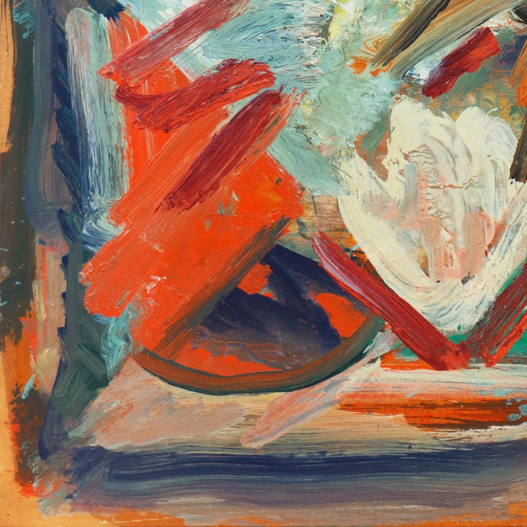 'Abstract, Coral and Ivory', New York School Abstraction, Whitney Museum, WPA For Sale 2