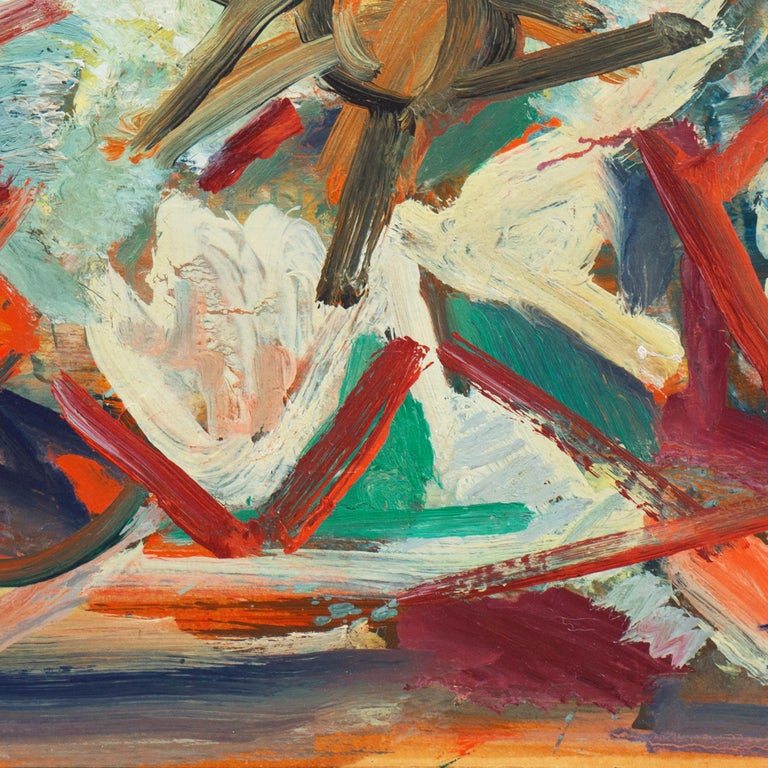 'Abstract, Coral and Ivory', New York School Abstraction, Whitney Museum, WPA For Sale 3