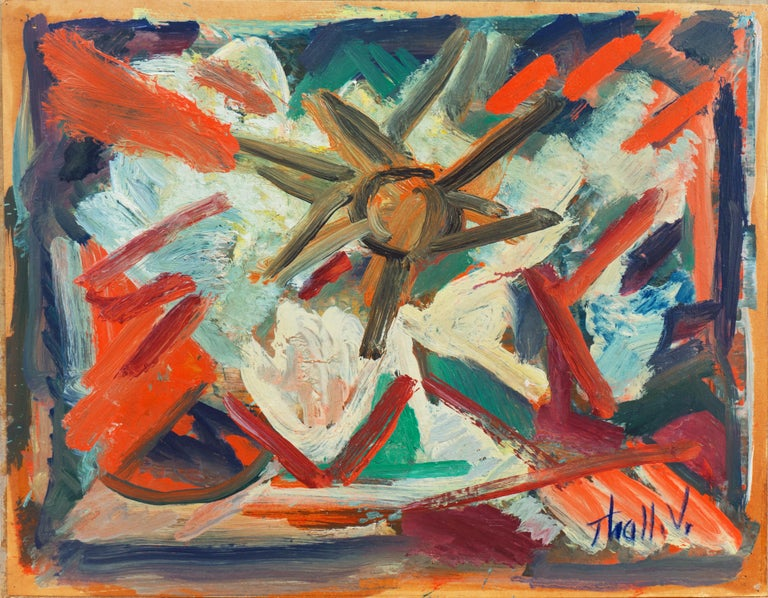 'Abstract, Coral and Ivory', New York School Abstraction, Whitney Museum, WPA For Sale 4