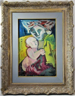 Mother and Child, expressionist painting