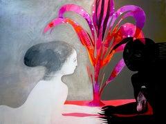 Conversation, Painting, Acrylic on Canvas