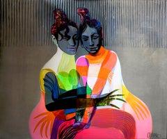 Flamenco Dancers, Painting, Acrylic on Canvas