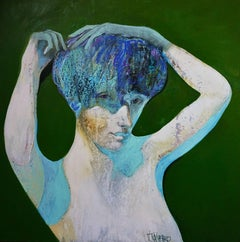 Green Lady, Painting, Acrylic on Canvas