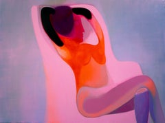 Pink Chair, Painting, Acrylic on Canvas