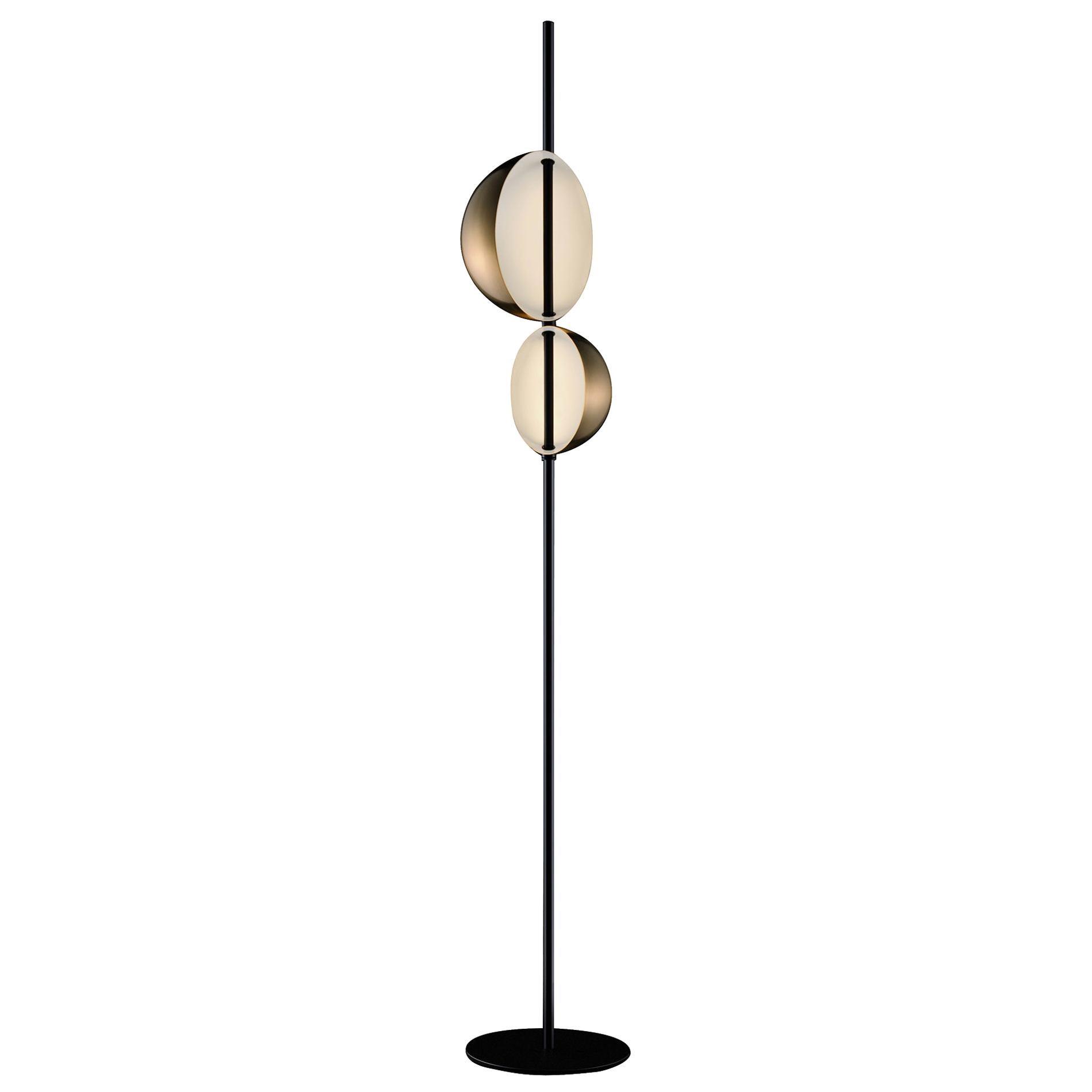 Victor Vaisilev Brass Floor Lamp 'Superluna' by Oluce