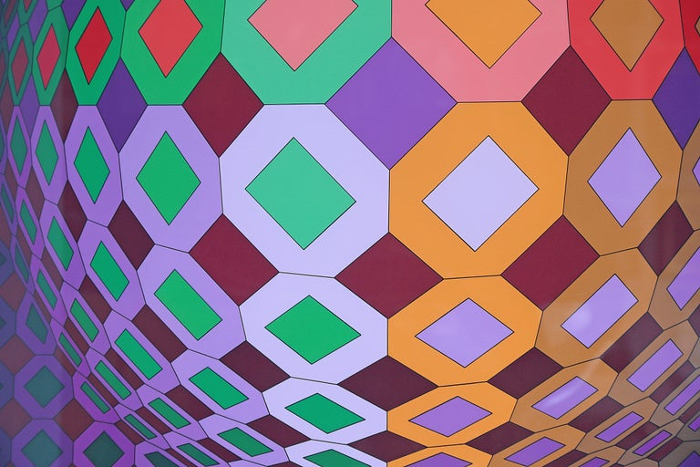Victor Vasarely Vega-Dombokta '1978' Screenprint in Colors 45/250 For Sale 6