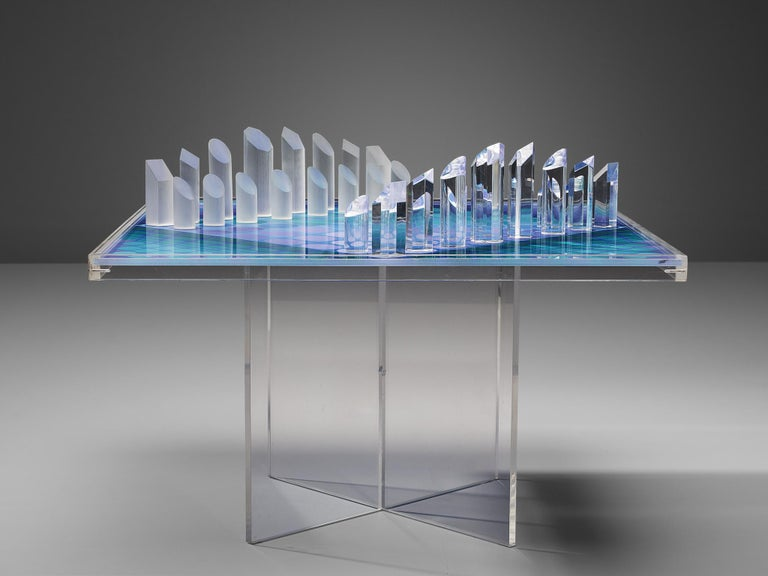 Late 20th Century Victor Vasarely Artistic Chess Set, 1979 For Sale