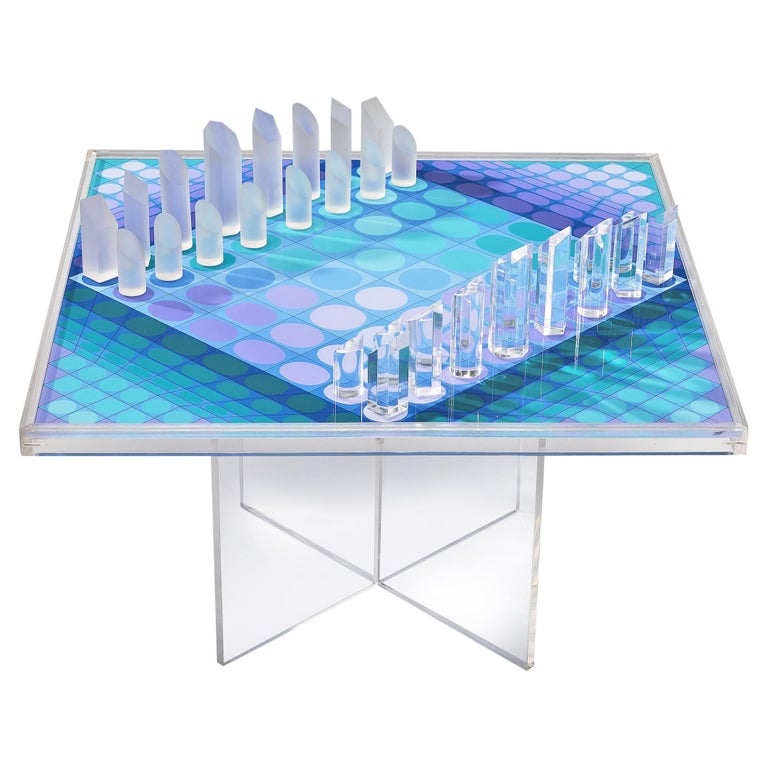 Victor Vasarely Artistic Chess Set, 1979 For Sale