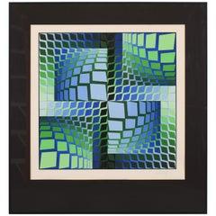 """Victor Vasarely """"Beautiful Thez"""" FV Silkscreen Print, 1982"""