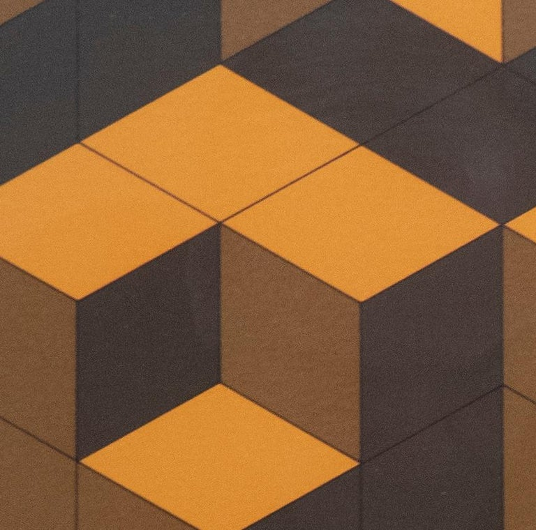 Mid-Century Modern Victor Vasarely Cubist Lithograph For Sale